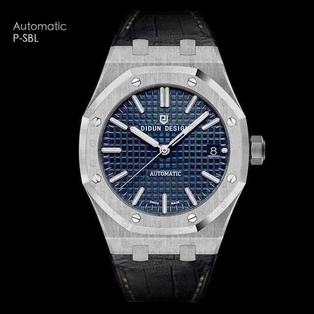 DIDUN DESIGN メンズ腕時計 機械式 自動巻き レザーバンド アナログ3針 日本製ムーブメント 防水サファイアガラス  海外人気ブランド 日本未発売モデル