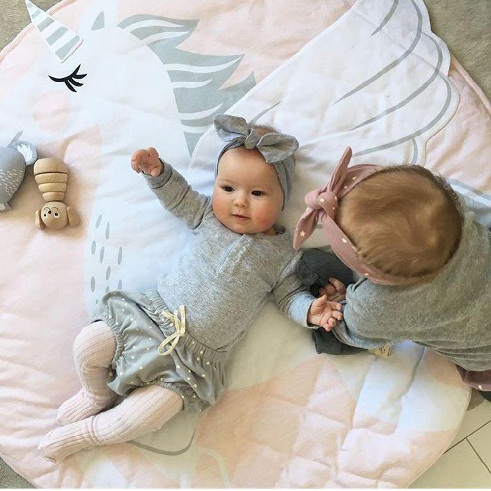 ユニコーン ベビーマット ピンク 赤ちゃん プレイマット サニーマット ラグマット インスタ映え おしゃれ かわいい