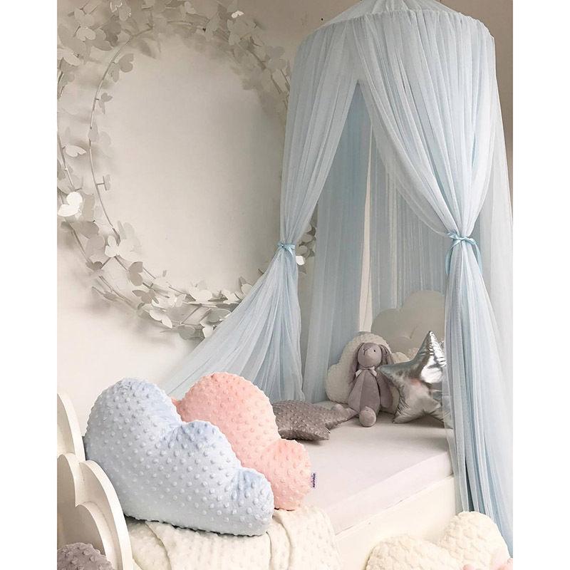 キッズルーム 天蓋 キャノピー 蚊帳 テント ベビーベッドに ミニカーテン 子供部屋 おしゃれ ロマンチック インスタ映え ブルー 水色