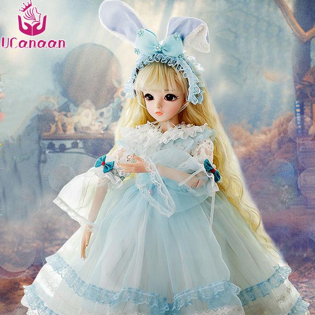 球体関節人形 BJD 衣装付き お姫様 お嬢様 女の子 プリンセスドール 60cm 美しい フランス人形/西洋人形/SD 金髪 美少女 かわいい 新品