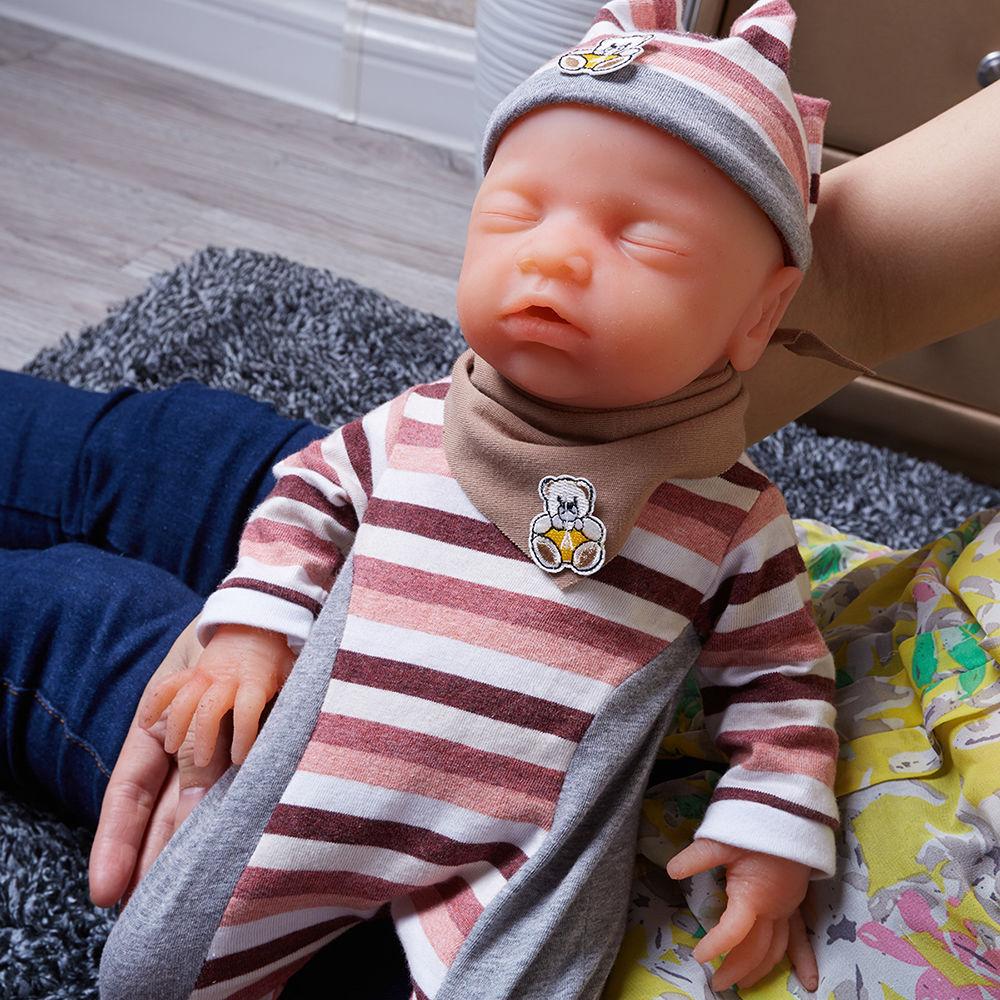 リボーンドール 柔らかい高級フルシリコン クローズアイ ねんね お風呂可能♪ 海外ドール リアル赤ちゃん人形 ベビードール ベビー人形 すやすや乳児 新生児ちゃん 46cm3000g 寝顔の女の子