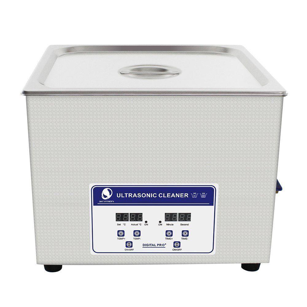 SKYMEN 超音波洗浄機 メガネ アクセサリー 貴金属 ジュエリー 宝石用 業務用 超音波クリーナー 小型 コンパクト デジタル制御 15L(容量12.5L)ヒーター付き