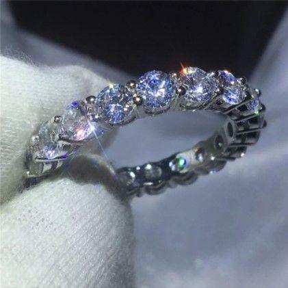 フルエタニティ エタニティリング 大粒4mm 高級 5AクラスCZダイヤモンド使用 シルバー925 SILVER925 /キラキラ レディース 銀 新品