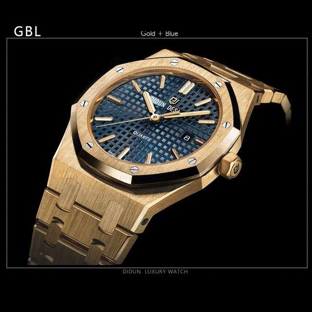 DIDUN DESIGN 正規品 メンズ腕時計 海外人気ブランド 日本未発売モデル 男性用 リストウォッチ ステンレスバンド クオーツ アナログ3針日本製ムーブメント 防水 サファイアガラス GL