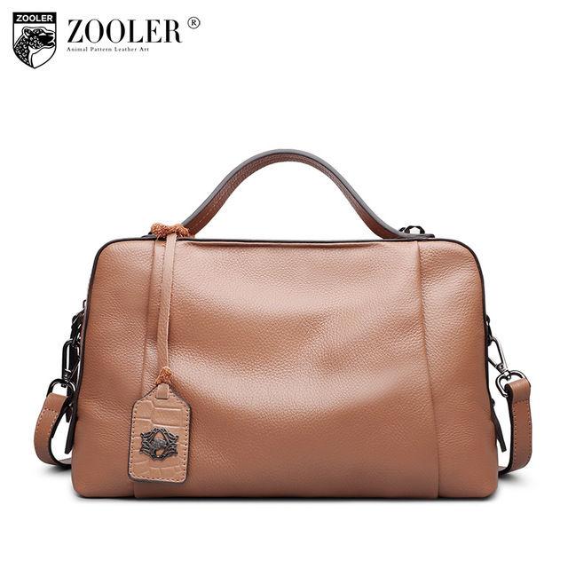 ZOOLER 本革 シンプル レザーボストンバッグ 2wayバッグ ショルダーバッグ ハンドバッグ Genuine Leather Shoulder bags