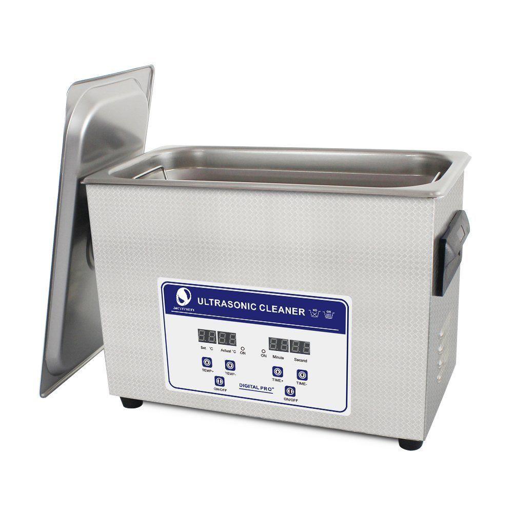 SKYMEN 超音波洗浄機 メガネ アクセサリー 貴金属 ジュエリー 宝石用 業務用 超音波クリーナー 小型 コンパクト デジタル制御 4.5L(容量3.7L)ヒーター付き