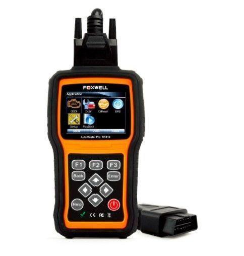 Foxwell NT414 車故障診断機 odb2 bmw 58車種以上対応 4システム (トランスミッション、ABS、エアバッグ、エンジン) スキャナ