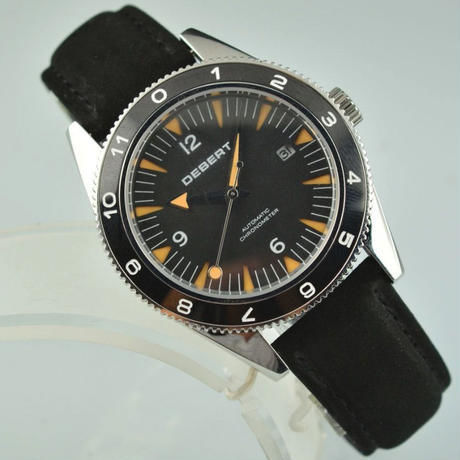 DEBERT 41mm 自動巻き 機械式腕時計 メンズ 日本ミヨタムーブ搭載 21石 レザーストラップ
