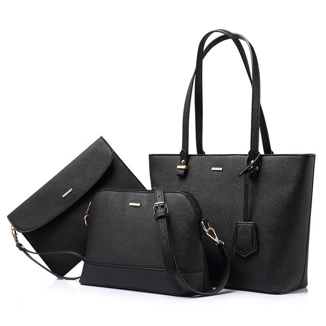 LOVEVOOK 親子バッグ3点セット ショルダーバッグ トートバッグ クラッチバッグ 高品質PU レディース 旅行用バッグ