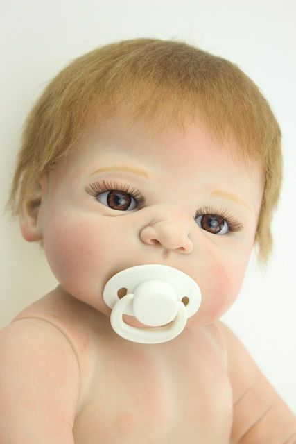 リボーンドール リアル赤ちゃん人形 フルシリコンビニール お風呂OK 入浴可能 かわいいベビー人形 ハンドメイド海外ドール 衣装なし本体のみ 選べる性別・瞳の色