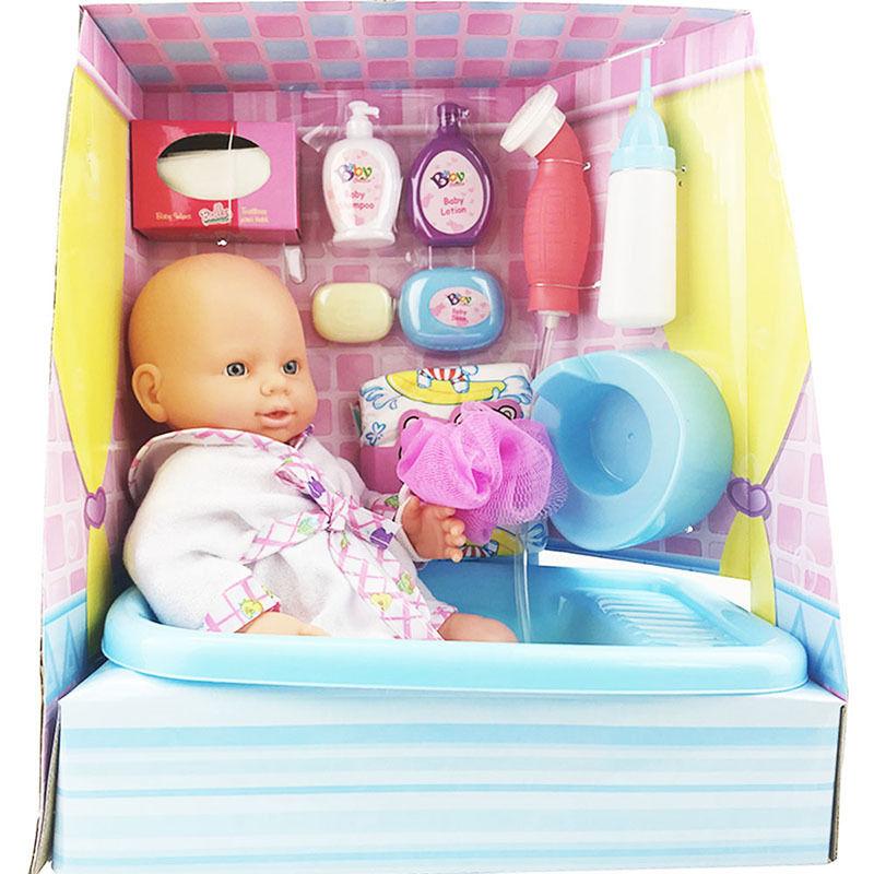 赤ちゃん人形 お世話セット お風呂でシャワー お水を飲んでおしっこできる かわいいベビー人形 知育玩具 おままごと プレゼント 女の子 リボーンドール