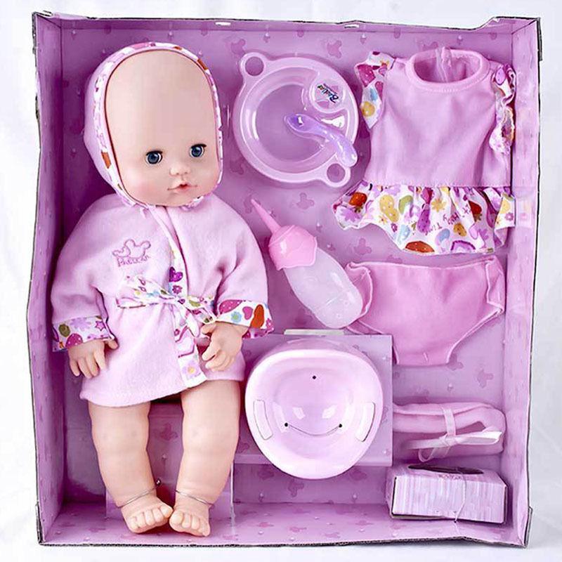 赤ちゃん人形 お世話セット 水を飲んでおしっこできる かわいいベビー人形  知育玩具 おままごと プレゼント 女の子 リボーンドール