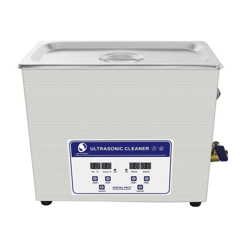 SKYMEN  超音波洗浄機 メガネ アクセサリー 貴金属 ジュエリー 宝石用 業務用 超音波クリーナー 小型 コンパクト デジタル制御 6.5L(容量5.9L)ヒーター付き