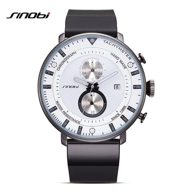 SHINOBI メンズ腕時計 ウルトラシン クロノグラフ 7mm極薄タイプ クォーツムーブメント 日本未発売