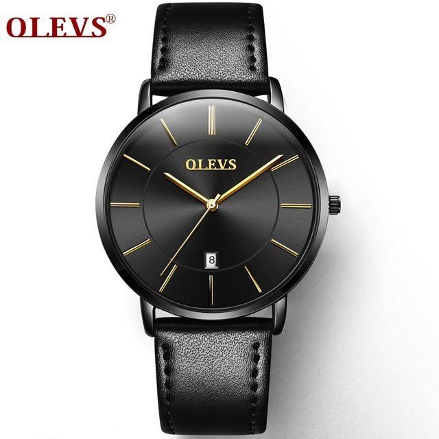OLEVS メンズ腕時計 ウルトラシン 6.5mm極薄タイプ 防水 高品質ラグジュアリーウォッチ シンプル ビジネス