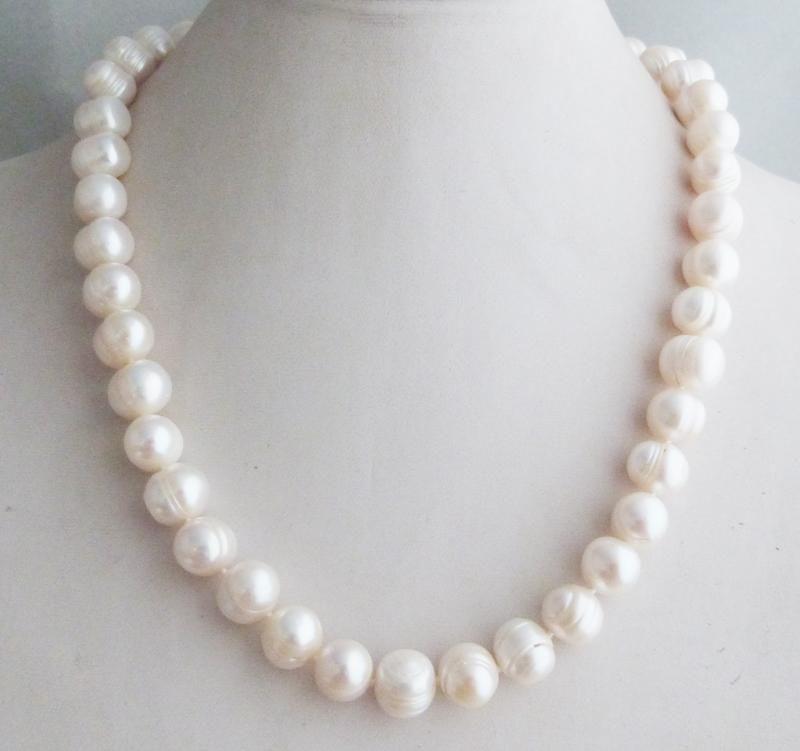 アウトレット 高級 天然真珠 バロックパール ナチュラルパール レディース ネックレス 12~13ミリ ホワイト 白 南洋 シンプル 上品 キラキラ