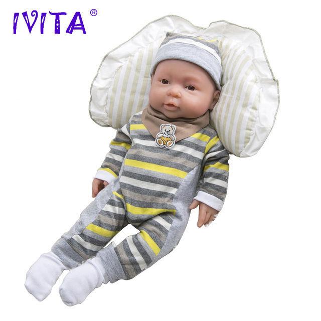 リボーンドール柔らかい高級フルシリコンオープンアイ開眼お風呂可能♪ 海外ドールリアル赤ちゃん人形 ベビードール ベビー人形ぱっちりお目目の新生児ちゃんプリーミー未熟児サイズ 41cm 2kg 男の子