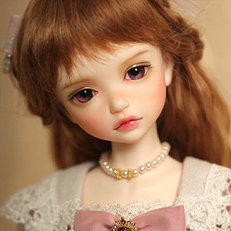 球体関節人形 BJD 本体+眼球(サービス)+メイクアップ済 1/6 34.5cm 海外カスタムドール 女の子 かわいい プリンセスドール そばかす 幼SDサイズ SD MSD 好きな方にも Ln3