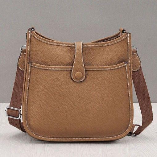 エヴリン風 ショルダーバッグ エルメス風 本革バッグ レディースバッグ ななめがけバッグ 28cm  ノーブランド品