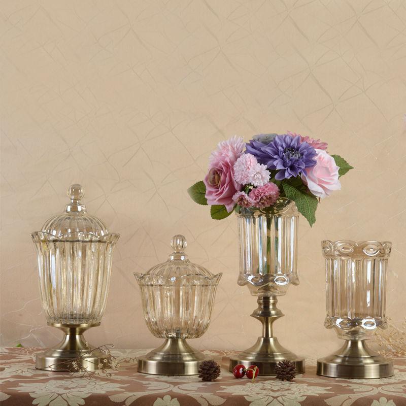 フラワーベース 花瓶 ラグジュアリー ヨーロピアンスタイル ブロンズ調アンティーク風 アートフラワー 造花 ドライフラワーにも