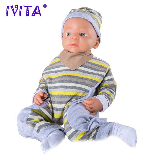 リボーンドール 柔らかい高級フルシリコン オープンアイ お風呂可能♪ 海外ドール リアル赤ちゃん人形 ベビードール  ぱっちりお目目の乳児ちゃん 56cm5050g ぱっちりお目目の男の子