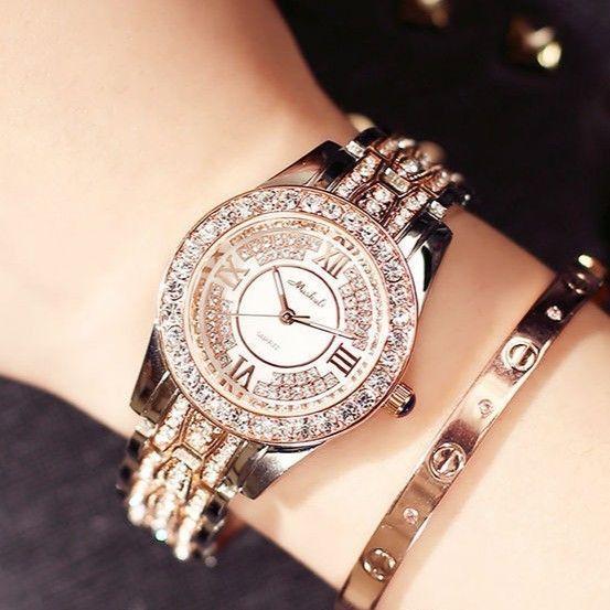 Mashali レディース腕時計 キラキララインストーン カジュアル腕時計 ファッションウォッチ 海外人気モデル 日本未発売