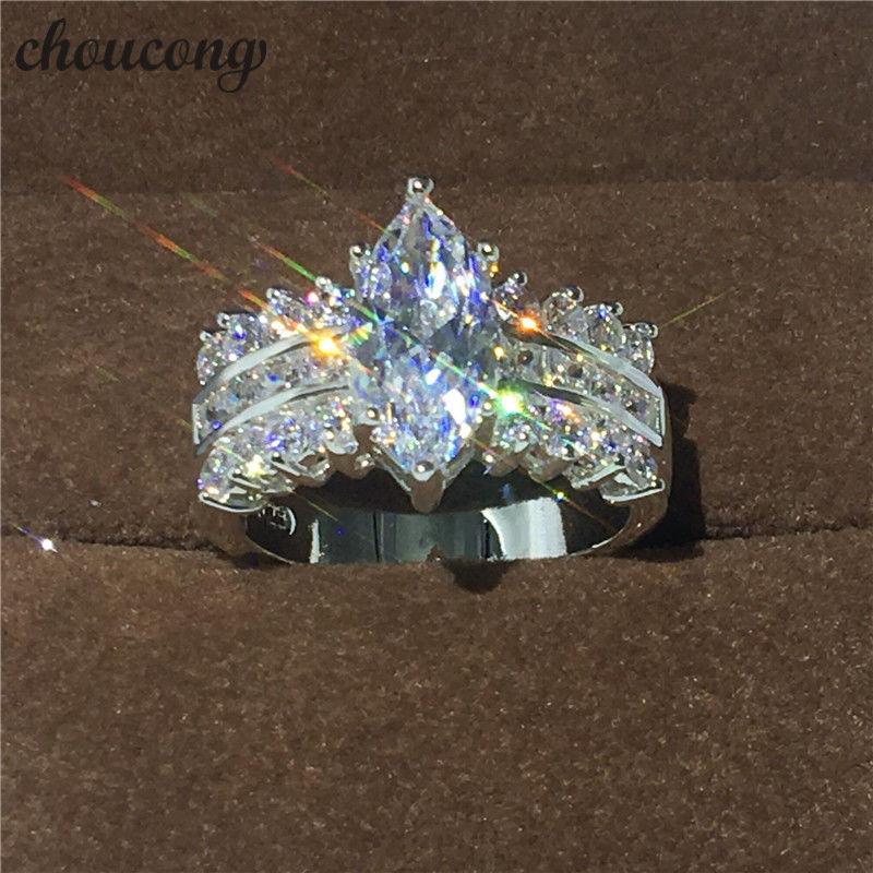 レディース CZダイヤモンドリング マーキースカット大粒キュービックジルコニア指輪 Silver925 シルバー ボリューム 高級 キラキラ プレゼントにも 10号/12号/14号/16号/18号