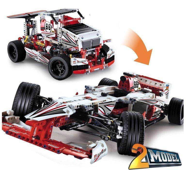 レゴ互換 F1レースカー フォーミュラレーシングカー ブロックおもちゃ 2in1 42000相当 グランプリレーサー