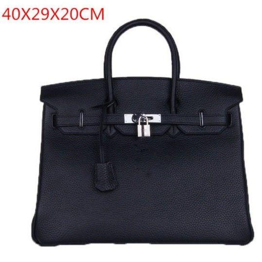 バーキンタイプバッグ バーキン型 エルメス風 ビッグサイズ 40cm 50cm ビジネスバッグ ハンドバッグ 本革バッグ 黒 ブラック A4対応
