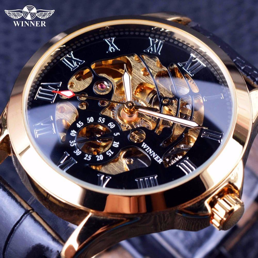 T-WINNER 高級メンズ腕時計 自動巻き 機械式 スケルトン クラシカルレザーストラップ ヨーロッパ人気モデル 日本未発売