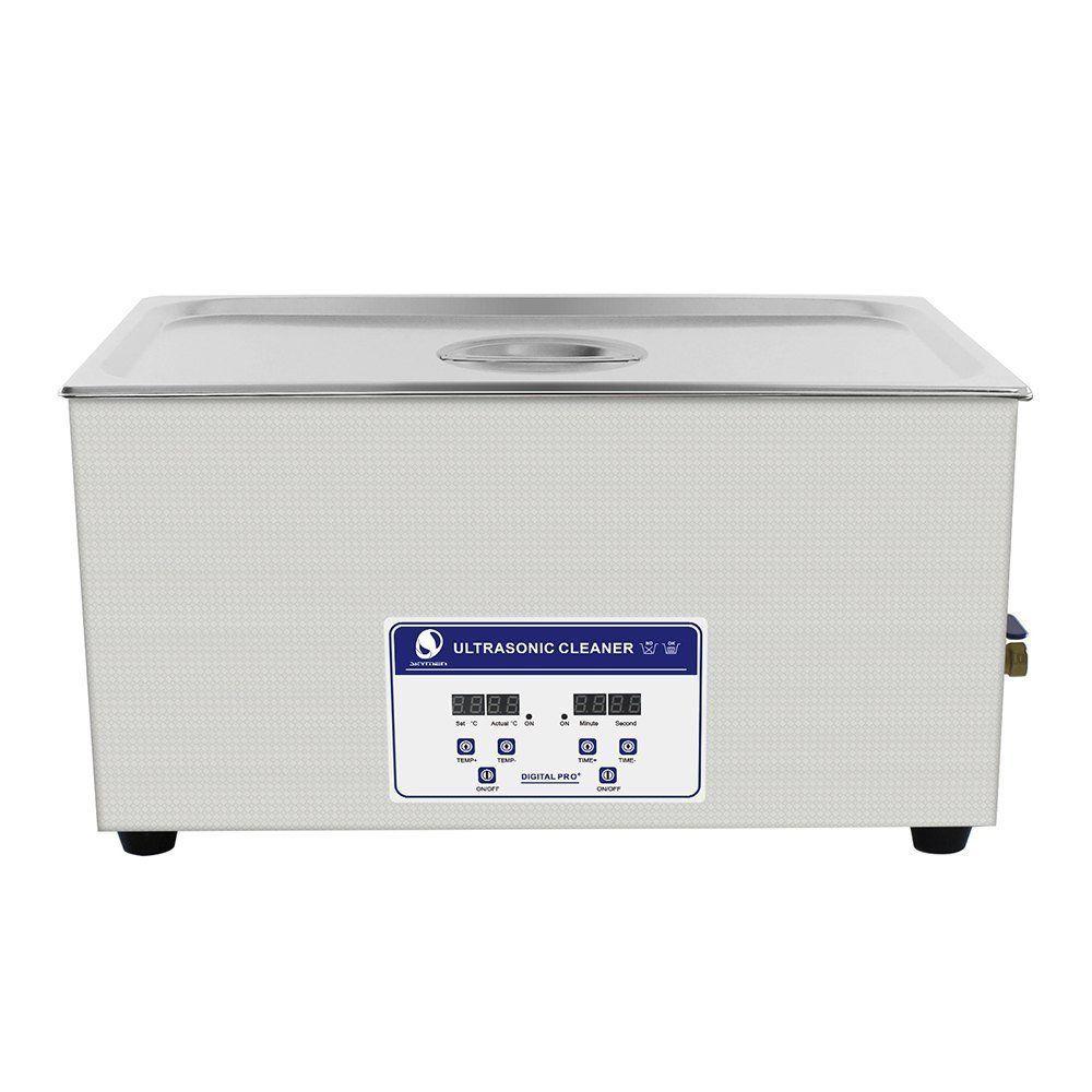 SKYMEN 超音波洗浄機 メガネ アクセサリー 貴金属 ジュエリー 宝石用 業務用 超音波クリーナー 小型 コンパクト デジタル制御 22L(容量19.5L)ヒーター付き