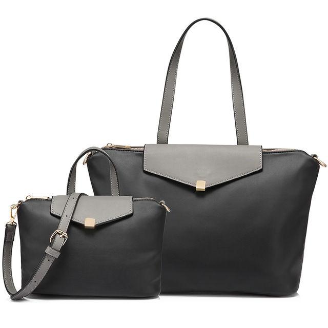 LOVEVOOK 親子バッグ2点セット ハンドバッグ ショルダーバッグ トートバッグ 高品質ソフトPU レディース 旅行用 選べる3色 / ロンシャン好きな方にも