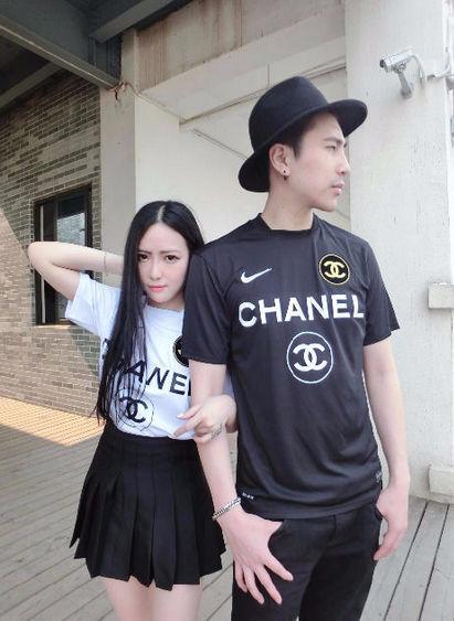 人気ナイキコラボTシャツ シャネル 協力版 ナイキシャネル 美品 刺繍ロゴナイキ