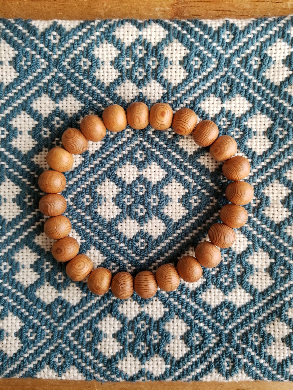 屋久杉ブレスレット 8㎜珠×24珠 天然木 数珠 屋久島産