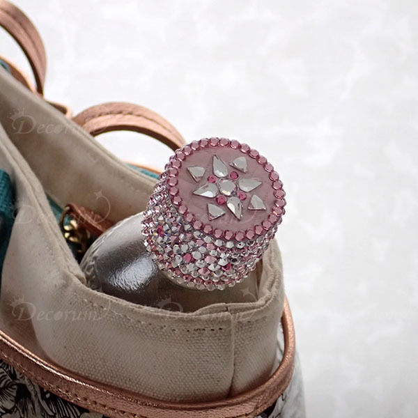 ペットボトルキャップデコ モロッコタイル柄ピンク