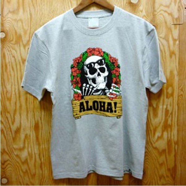 "【レゲエ】FITNESS ""ALOHA!"" Tee/Mix Gray"