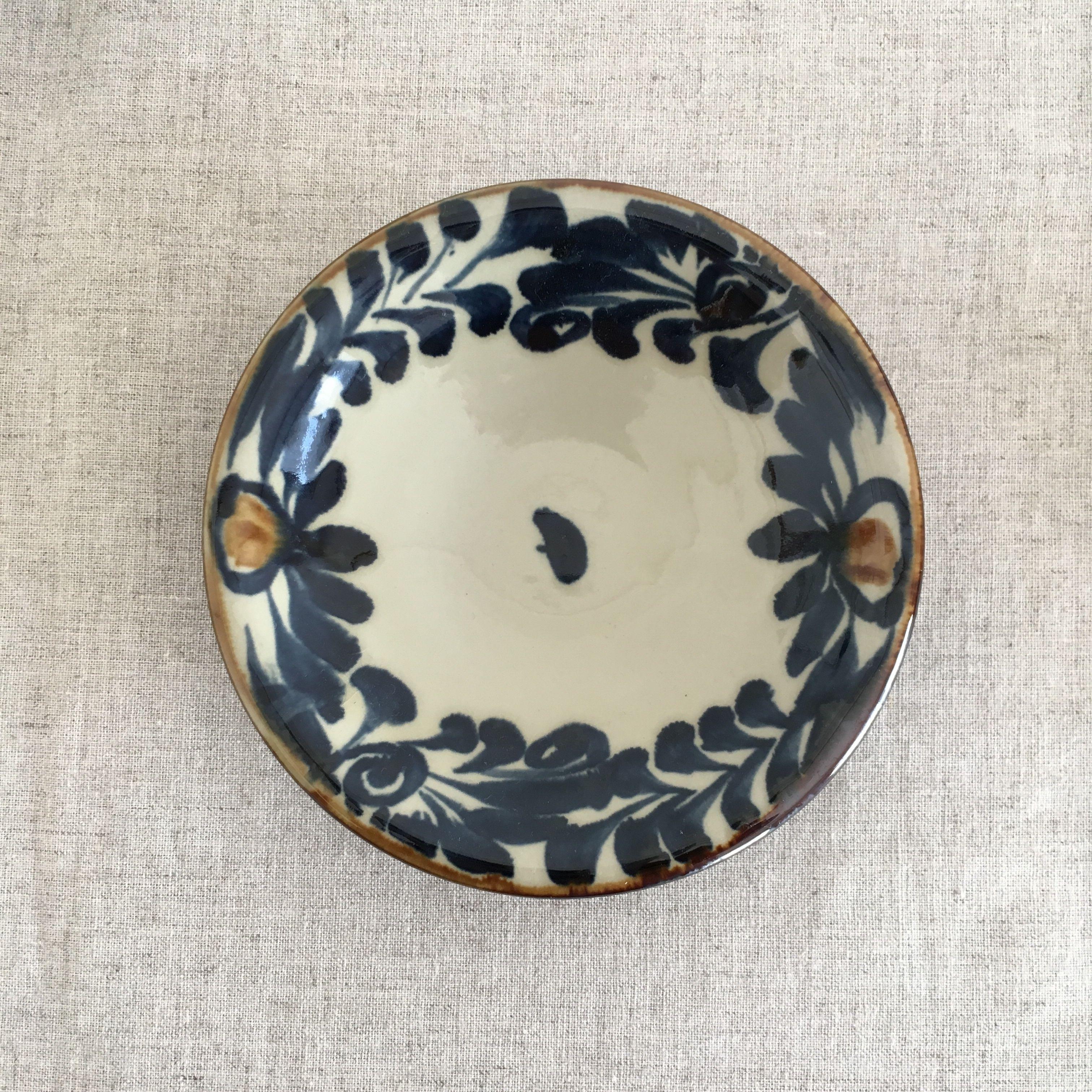 やちむん(沖縄陶器)コバルト5寸皿