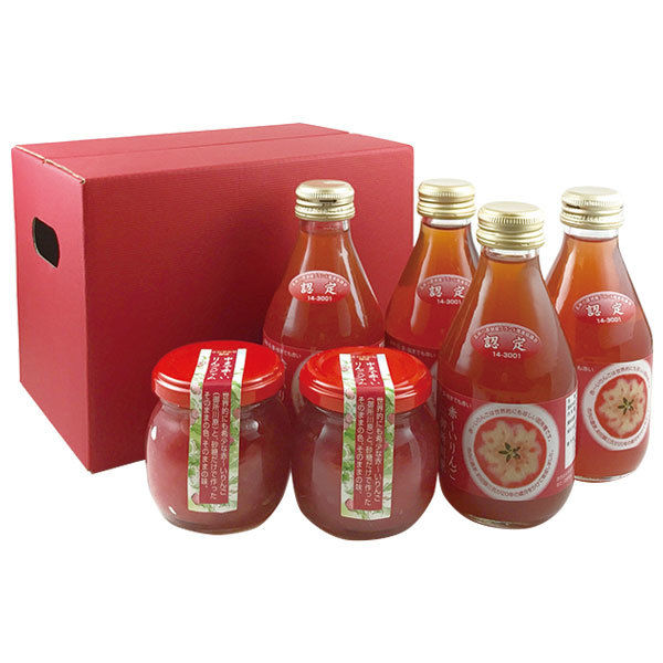 ●中まで赤~いりんごジャム 100g?2 ●中まで赤~いりんごジュース 小瓶180ml?4