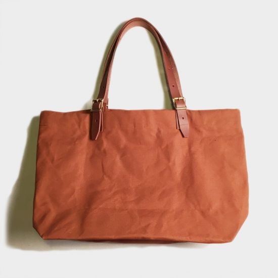 BUCKLE TOTE BAG (ORANGE BROWN)