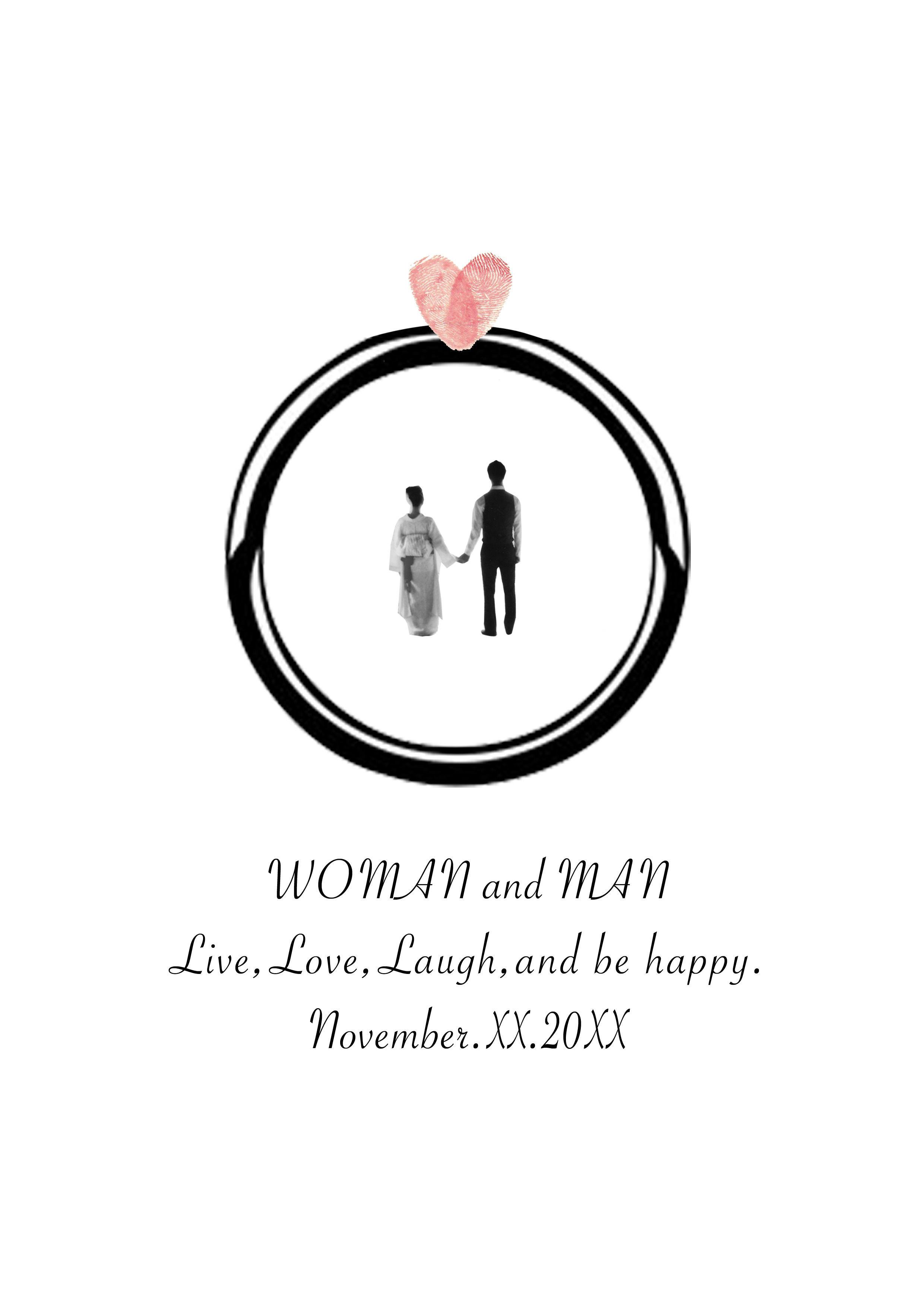 WEDDING RING PAPER【オーダーメイド】