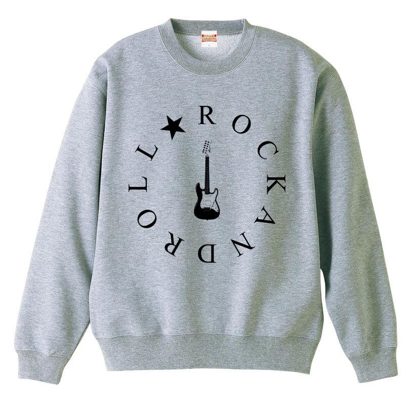 [スウェット]  ROCK AND ROLL (Gray)