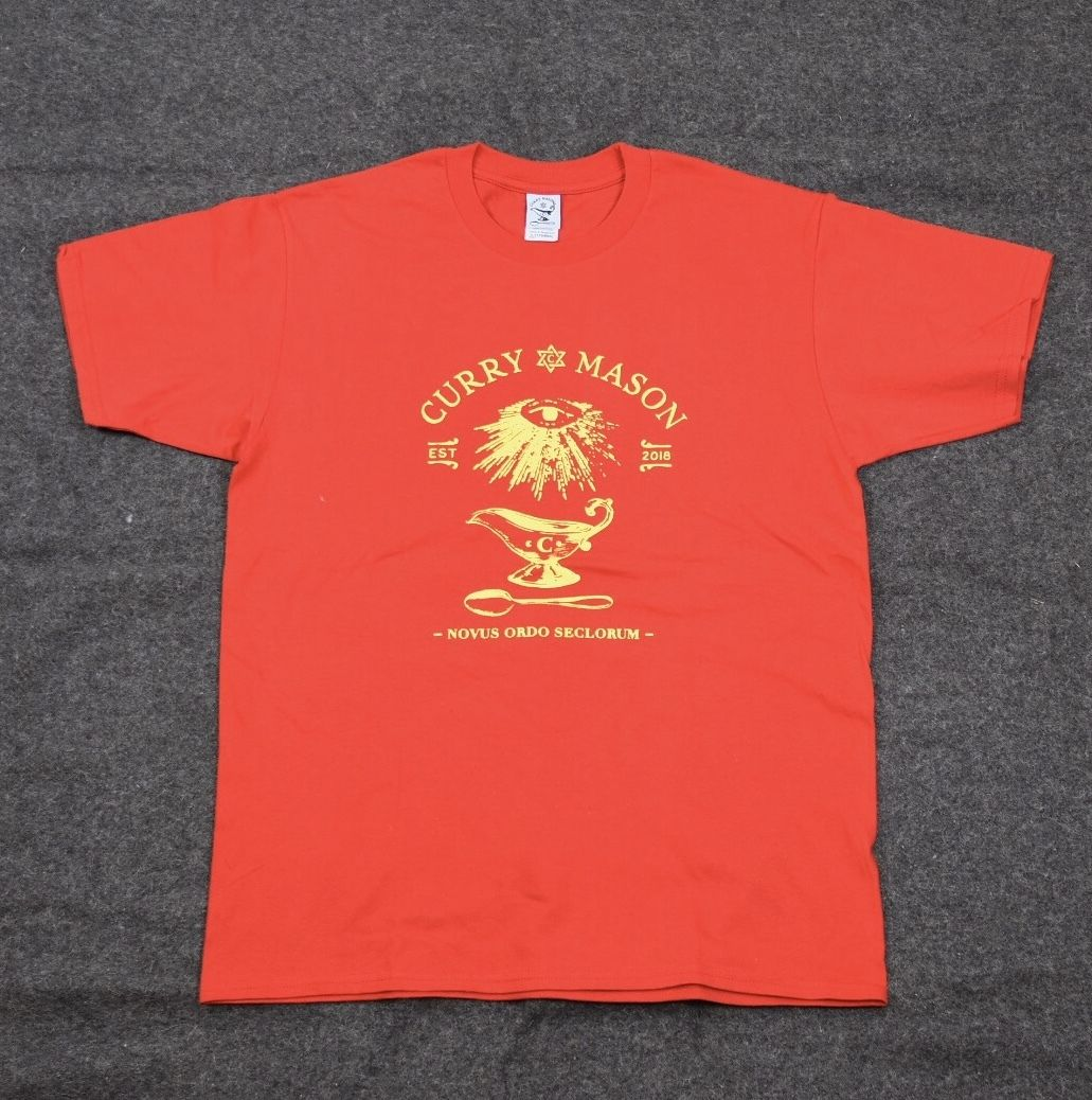 CURRY MASON CLASSIC LOGO S/S  /RED