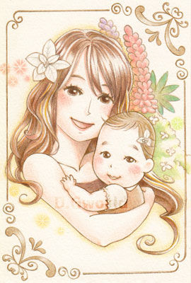 【はがきサイズ】幸せのグリーティングカード原画