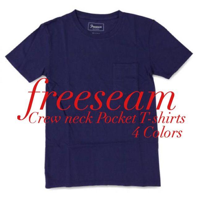 Freeseam クルーネックポケットTシャツ