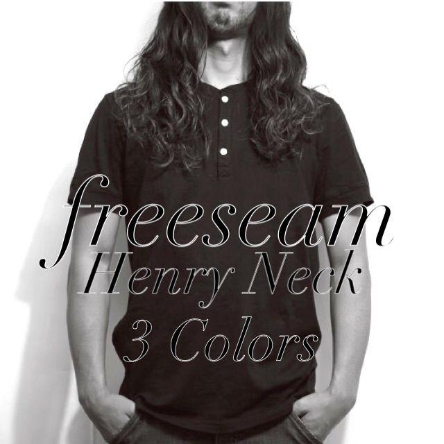 Freeseam ヘンリーネックTシャツ