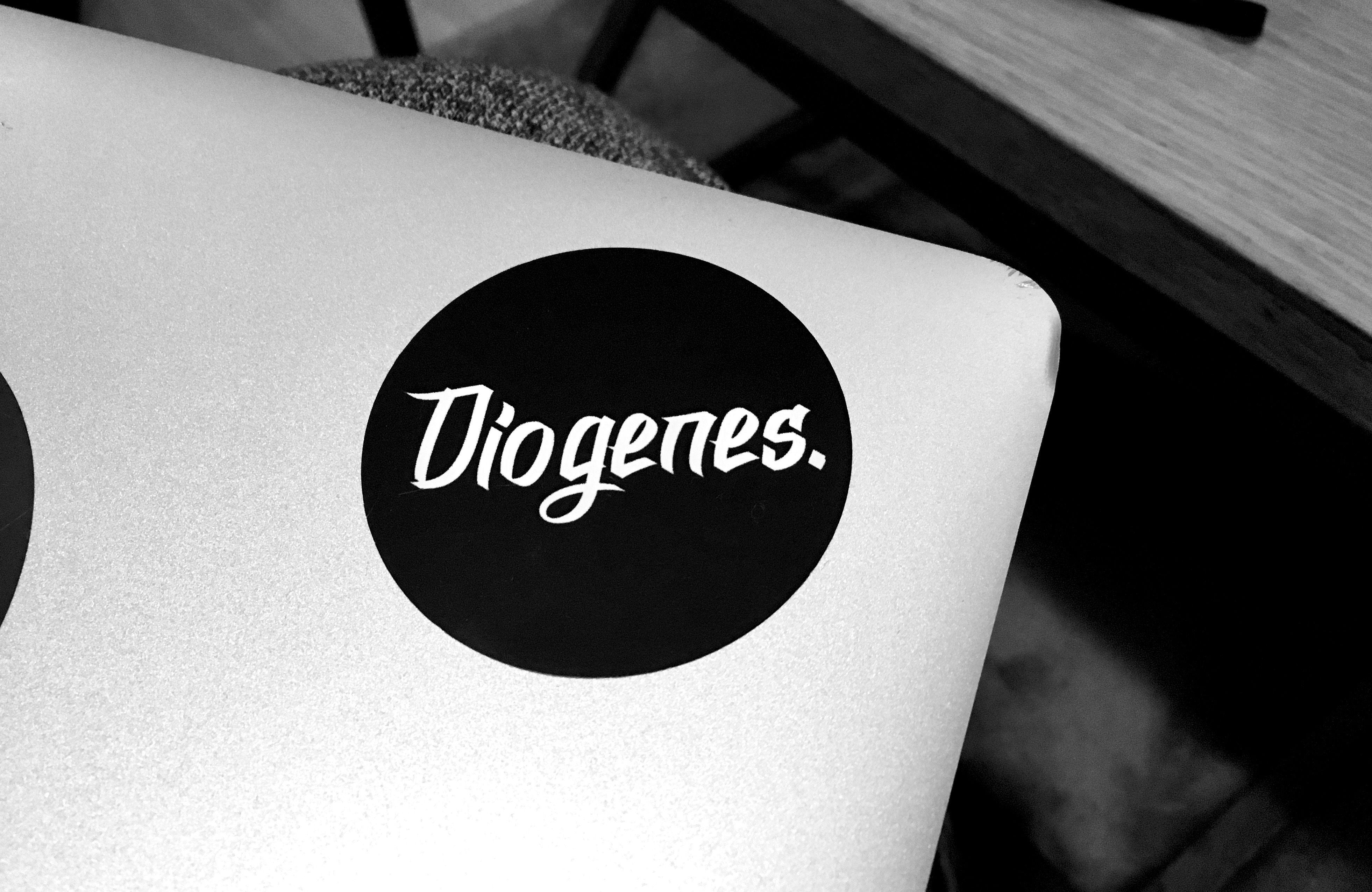 Diogenes.ラウンドステッカー