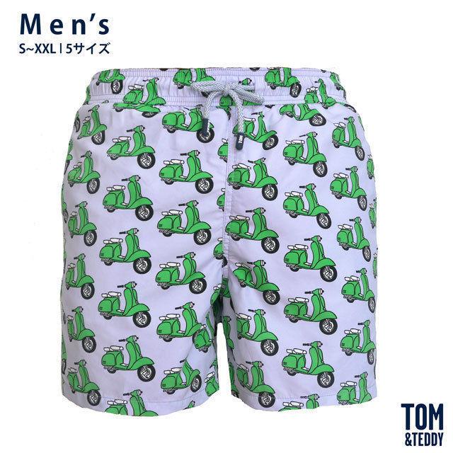 スクーター・パープル&グリーン【メンズ   S~XXL   全5サイズ】【Tom & Teddy? Australian Swimwear】