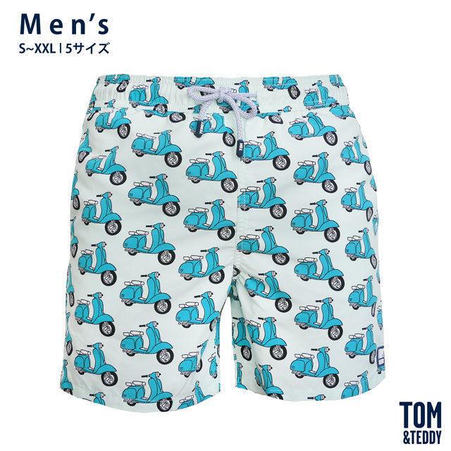スクーター・ブルー&ブルー【メンズ   S~XXL   全5サイズ】【Tom & Teddy? Australian Swimwear】