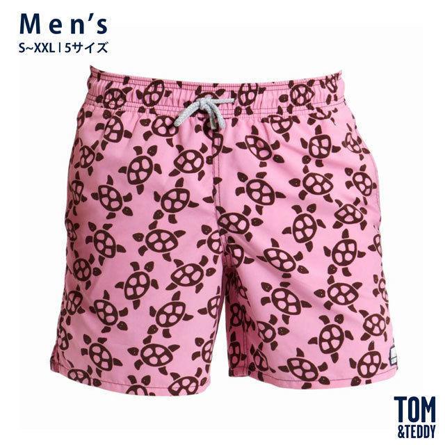 タートル・ピンク&ブラウン【メンズ | S~XXL | 全5サイズ】【Tom & Teddy? Australian Swimwear】