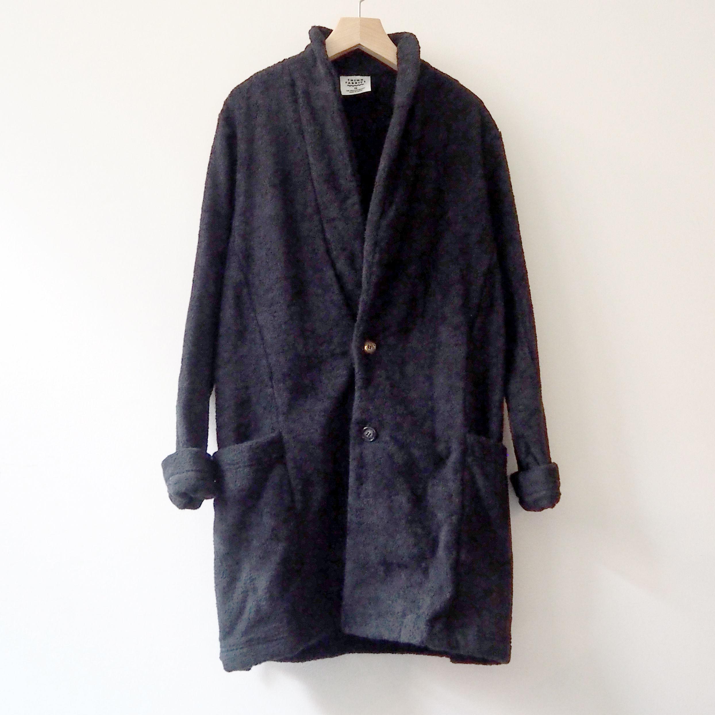 THING FABRICS  Collar Coat(long pile)  Black